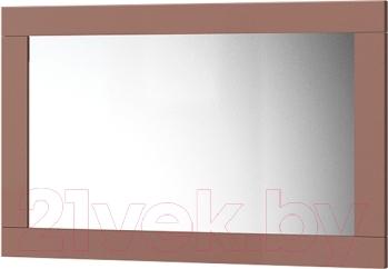 Зеркало интерьерное Мебель-Неман Эллипс МН-118-08 (св.-коричневый глянец/капучино)