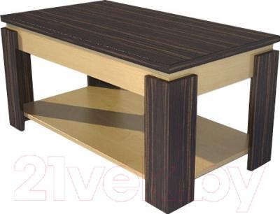 Журнальный столик Мебель-Неман МН-204-02 (хебан/береза)