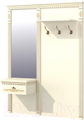 Вешалка для одежды Мебель-Неман МН-030-02 (кремовый/патина)
