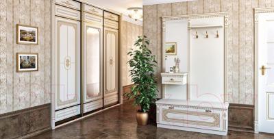 Вешалка для одежды Мебель-Неман МН-030-02 (кремовый/патина) - в интерьере