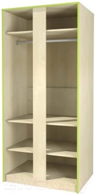 Шкаф Мебель-Неман Комби МН-211-16 (береза/лайм) - в открытом виде