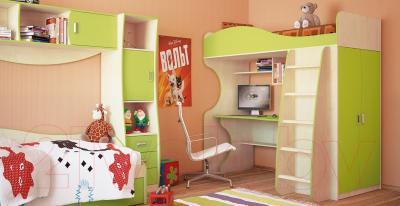 Односпальная кровать Мебель-Неман Комби МН-211-01 (береза/лайм)