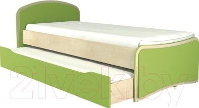 Двухъярусная кровать Мебель-Неман Комби МН-211-09 (береза/лайм)