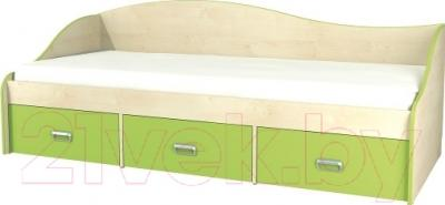 Односпальная кровать Неман Комби МН-211-02 (береза/лайм)