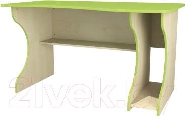 Компьютерный стол Неман Комби МН-211-05 (береза/лайм) - в зависимости от сборки, может быть правосторонним