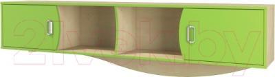 Шкаф навесной Мебель-Неман Комби МН-211-37 (береза/лайм)
