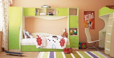 Шкаф навесной Мебель-Неман Комби МН-211-37 (береза/лайм) - в интерьере