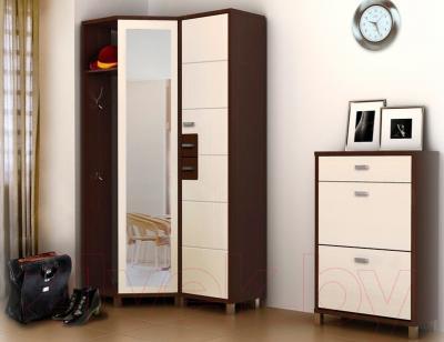 Антресоль Мебель-Неман Домино Венге ВК-04-24 (береза/венге) - коллекция Домино
