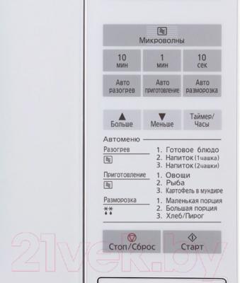 Микроволновая печь Panasonic NN-ST251WZTE - панель