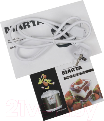 Мультиварка Marta MT-1972 (белый/красный металлик) - комплектация