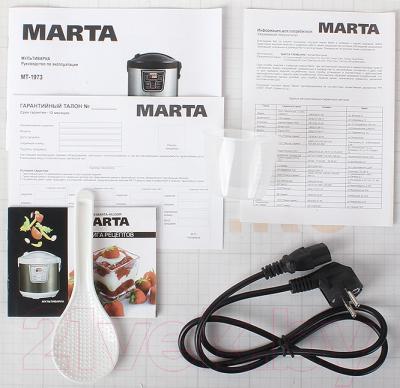 Мультиварка Marta MT-1973 (белый/золотой металлик) - комплектация