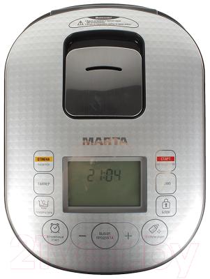 Мультиварка Marta MT-1980 (белый/серебро) - панель