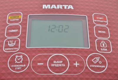 Мультиварка Marta MT-1980 (черный/красный) - панель