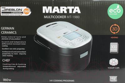 Мультиварка Marta MT-1980 (черный/красный) - коробка