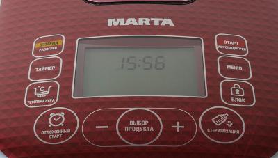 Мультиварка Marta MT-1981 (черный/красный) - панель