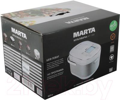 Мультиварка Marta MT-1981 (черный/красный) - коробка