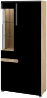 Шкаф Мебель-Неман Леонардо МН-026-19 (черный полуглянец/дуб Сонома) -
