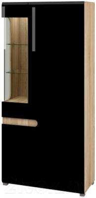 Шкаф Мебель-Неман Леонардо МН-026-19 (черный полуглянец/дуб Сонома)