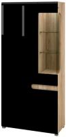 Шкаф Мебель-Неман Леонардо МН-026-19/1 (черный/дуб Сонома) -