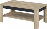 Журнальный столик Мебель-Неман Леонардо МН-221-01 (черный полуглянец/дуб Сонома) -