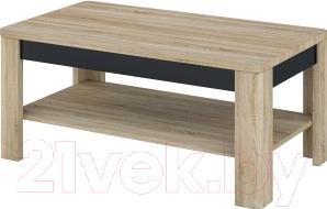 Журнальный столик Мебель-Неман Леонардо МН-221-01 (черный полуглянец/дуб Сонома)