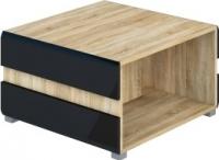 Журнальный столик Мебель-Неман Леонардо МН-026-04 (черный полуглянец/дуб Сонома) -