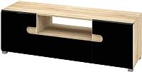 Тумба Мебель-Неман Леонардо МН-026-02 (черный полуглянец/дуб Сонома) -