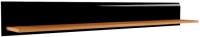 Полка Мебель-Неман Леонардо МН-026-05 (черный полуглянец/дуб Сонома) -