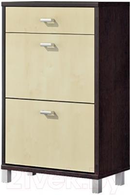 Тумба для обуви Мебель-Неман Домино Венге ВК-04-23 (береза/венге)