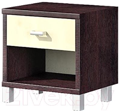 Прикроватная тумба Мебель-Неман Домино Венге ВК-04-17 (береза/венге)