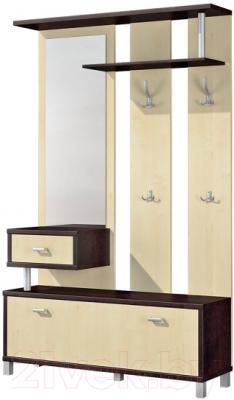 Секция в прихожую Мебель-Неман Домино Венге ВК-04-22 (береза/венге с подсветкой)