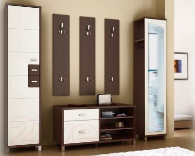 Вешалка для одежды Мебель-Неман Домино Венге ВК-04-28 (береза/венге) - в интерьере