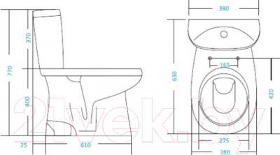 Унитаз напольный Santek Анимо (WH110029) - схема
