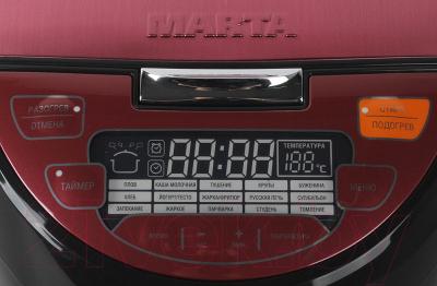 Мультиварка Marta MT-1984 (черный/красный) - панель