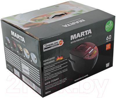 Мультиварка Marta MT-1984 (черный/красный) - коробка