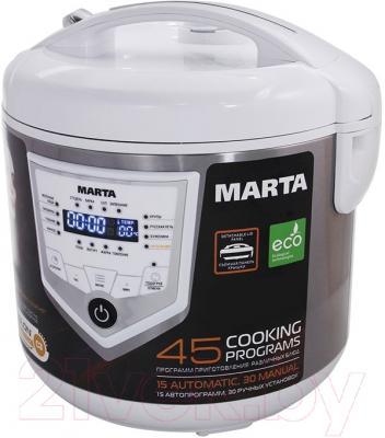 Мультиварка Marta MT-4300 (белый/сталь)