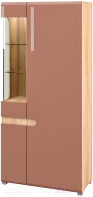 Шкаф Мебель-Неман Леонардо МН-026-19 (св.-коричневый глянец/дуб Сонома)