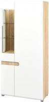 Шкаф Мебель-Неман Леонардо МН-026-19 (белый полуглянец/дуб Сонома) -