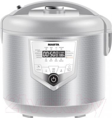Мультиварка Marta MT-4308 (белый/сталь)