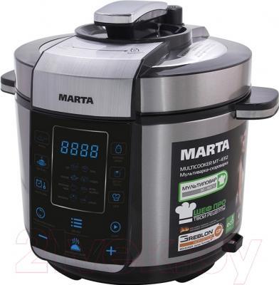 Мультиварка-скороварка Marta MT-4312 (черный/сталь)