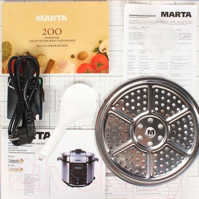 Мультиварка-скороварка Marta MT-4312 (черный/сталь) - комплектация