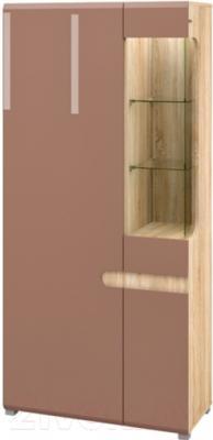 Шкаф Мебель-Неман Леонардо МН-026-19/1 (светло-коричневый/дуб Сонома)