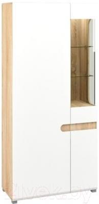 Шкаф Мебель-Неман Леонардо МН-026-19/1 (белый полуглянец/дуб Сонома)