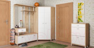 Шкаф Мебель-Неман Домино Сонома ВК-04-14 (белый полуглянец/дуб Сонома) - в интерьере