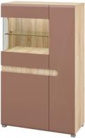 Шкаф Мебель-Неман Леонардо МН-026-03 (св.-коричневый глянец/дуб Сонома) -