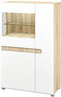Шкаф Мебель-Неман Леонардо МН-026-03 (белый полуглянец/дуб Сонома) -