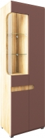 Шкаф Мебель-Неман Леонардо МН-026-01 (св.-коричневый глянец/дуб Сонома) -