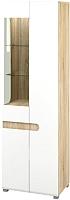 Шкаф Мебель-Неман Леонардо МН-026-01 (белый полуглянец/дуб Сонома) -