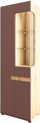 Шкаф Мебель-Неман Леонардо МН-026-01/1 (св.-коричневый глянец/дуб Сонома)