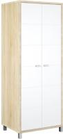 Шкаф Мебель-Неман Домино Сонома ВК-04-03 (белый полуглянец/дуб Сонома) -